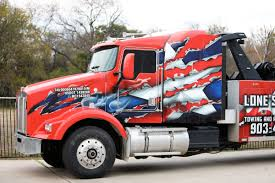 LoneStar Haulin Custom Tow Truck Wrap | Car Wrap City