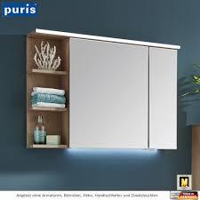puris purefaction spiegelschrank 90 cm mit regal links