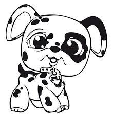 Baby Dog Coloring Pages 20 Little Pet Shop Dalmatian Batch