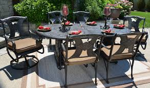 8 Person Patio Table by Amalia 6 Person Luxury Cast Aluminum Patio Furniture Dining Set