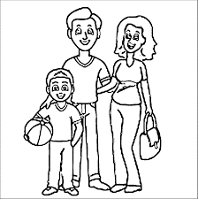 Family Coloring Page Pages Printable Guy Disney