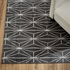 Popular of Geometric Area Rugs And Gray Geometric Linear Pattern