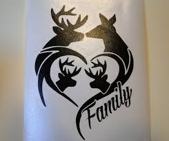 100 Hunting Decals For Trucks Deer Family For Car Truck Window Etc Outdoor Sign Vinyl Decal Black