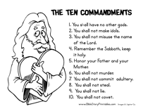 Download Your FREE Ten Commandments Printable Pack When You Subscribe To BibleStoryPrintables Our Free Newsletter Provides With Emails Everytime We