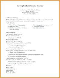New Graduate Nursing Resume