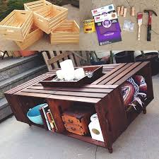 Michaels Art Desk Instructions by Best 25 Crate Coffee Tables Ideas On Pinterest Wine Crate