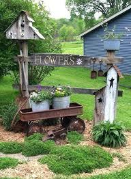 Cozy Rustic Outdoor Decor Images Best Garden Ideas On Primitive