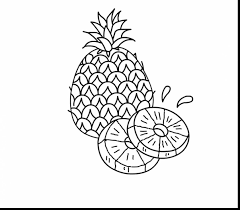 Good Printable Pineapple Coloring Page With And Spongebobs House Pages