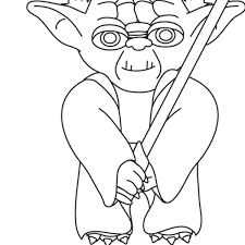Yoda Coloring Pages Star Wars Free Printable For
