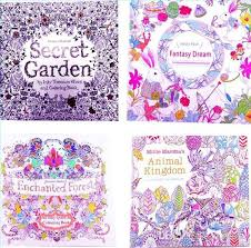 Adult Coloring Books 4 Designs Secret Garden Animal Kingdom Fantasy Dream And Enchanted Forest 24 Pages Kids Painting Colouring Color For