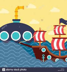 100 Design A Pirate Ship Nautical Maritime Design Ocean Pirate Ship Submarine Clouds