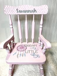 Pink Boho Rocking Chair For Nursery Or Little Girls Room ...