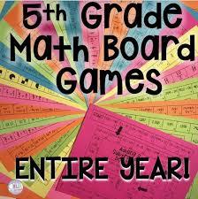 5th Grade Math Board Games YEAR LONG Bundle