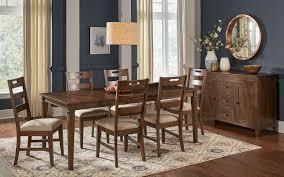 Extending Leg Table Set 8 BLUNB6070 Brown A-America Blue Mountain Solid  Hardwood