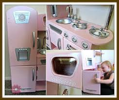 Play Kitchen Kidkraft Pink Retro And Refrigerator Vintage Costco