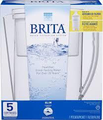 Brita Faucet Filter Replacement Walmart by Brita Slim Water Filtration Pitcher Walmart Canada