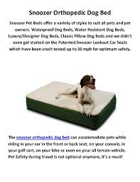 snoozer pet beds snoozer orthopedic dog bed