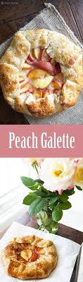 Peach Galette Rustic Tart Made With Slices Of Fresh Yellow Peaches In A