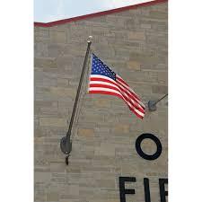 100 Truck Flag Mount Commercial Vertical Wall Aluminum Poles