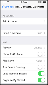 Setting up a new email account on your iPhone