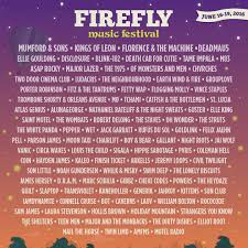 Current Past Firefly Music Festival Lineups