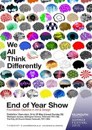 End Of Year Show For Foundation Art And Design Falmouth University Brains As Example How We All Think About Differently