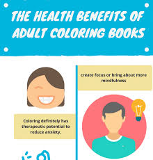 The Healht Benefits Of Adult Coloring Books Infographic