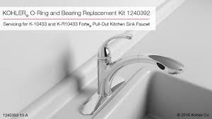 Kohler Forte Kitchen Faucet Diverter by O Ring And Bearing Replacement Instructions 1240392 Youtube