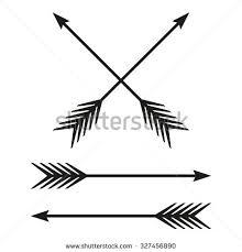 Arrows Set Bow Arrow Isolated On White Background Vintage Design Element Archer Symbol