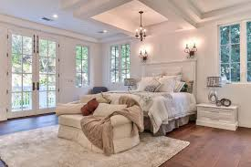 Traditional Master Bedroom With Hardwood Floors High Ceiling Schon Engineered 3 8