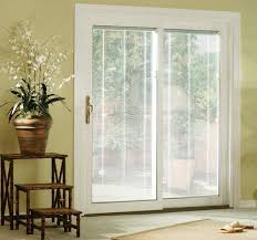 patio sliding patio doors with blinds home interior decorating