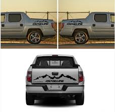 Product: 3X HONDA RIDGELINE Rear And Side Vinyl Body Decal Sticker ... Duck Tailgate Graphic Realtree Max5 Camo Camouflage Decals Car Truck Fleet Van Company Business Graphics Torn Ford F150 Stripes Bed Vinyl Vehicle Wraps Sign Authority Wheaton Lisle Carol Stream Lombard In Barron Wisconsin Screen Process Mudslinger Side 4x4 Rally Champ Silverado 10 Racing Decal Sticker Auto Shadow Door 42017 2018 Chevy Breaker Upper Body