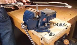 mobile machinist u0027s vise woodworking magazine popular