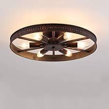 pumpink retro rad deckenleuchte vintage runde deckenleuchte antik industrie ring design 6 e14 lichtquelle kreative dekorative deckenleuchte metall
