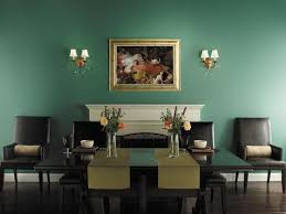 Green Paint Colors For Small Glamorous Dining Room