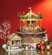 Thomas Kinkade Christmas Tree Teleflora by Lemax Sunshine Carousel Sku 14325 Carousel Revolves Animals