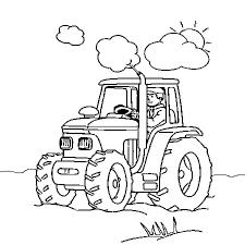 Coloriage Tracteur Tom Jules