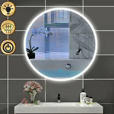 led rund spiegel mit beleuchtung 60 70 80 cm badezimmer