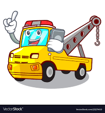 100 Truck Phone With Phone Cartoon Tow Truck Isolated On Rope Vector Image