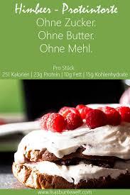 fitness rezept himbeer proteintorte ohne zucker und mehl