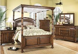 Rooms To Go Queen Bedroom Sets by Cindy Crawford Home Key West Tobacco Canopy 6 Pc Queen Bedroom
