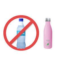 Reusable Water Bottle Instead Of Plastic Vector