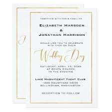 Elegant Black and Gold Script and Border Wedding Card simple ts