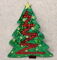 Image Is Loading Christmas Tree Sequin Green Red Holiday Iron On