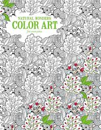 For Adults Coloring Book Pages Natural Wonders Color Art