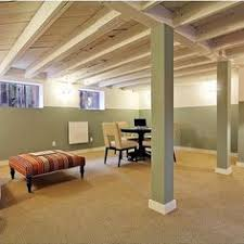 Paint The Ceiling As An Option Basement Ideas On A Budget RemodelingBasement