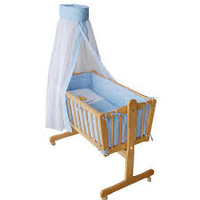Baby Cradle Wooden Swing Bed Baby Swing Crib Natural Color Bed