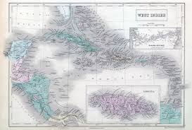 1855 Map Of West Indies