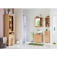 home affaire badkommode westa breite 34 cm badezimmerschrank aus massivholz kiefernholz metallgriffe 4 schubladen viel stauraum