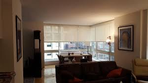 Solar Shades Living Room NYC NY City Blinds
